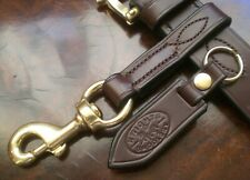 "Best English Bridle Leather 3/4"" wide belt loop key / tool holder and key fob"