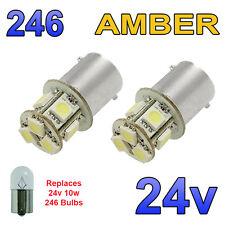 2 x AMBRA 24V LED BA15S 246 R10W 8 SMD TARGA INTERNI LAMPADINE Mezzi Pesanti Camion