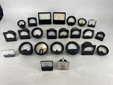 Lot Of 24 Vintage Assorted Panel Meter Gauges Simpson Weston Fluke Ge Shurite