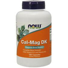 Now Foods Citrato de calcio óxido de magnesio + vitamina D3 y K2   180 Cápsulas