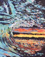 BEACH Ocean Wave Original Art PAINTING DAN BYL Modern Contemporary large 4x5 ft