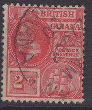 BRITISH GUIANA SG260 1913 2c CARMINE USED