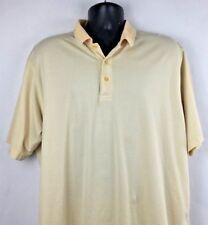 IZOD Premium Cotton Men's yellow and gray striped polo golf style s/s shirt XL