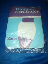 Vintage Quelle Damenschlüpfer Schlüpfer Slip weiß Gr. 42-44 mit OVP  (H376)