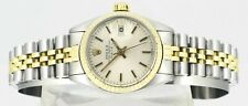 ROLEX Oyster Perpetual Date 14Kt Gold Stainless Steel Ladies Wrist Watch In Box