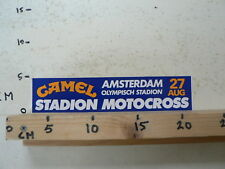 STICKER,DECAL AMSTERDAM OLYMPISCH STADION MOTOCROSS CAMEL 27 AUG. MX LARGE