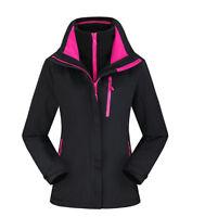 D85 Women Lady Black Ski Snow Snowboard Winter Waterproof Jacket 6 8 10 12 14