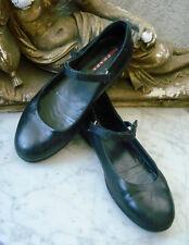 PRADA Sport BLACK Leather Mary Jane Flats ~ 35 (US-5, UK-3)