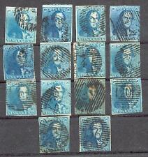 BELGIEN 1849 2 per 14 SCHÖNES LOT  (15144
