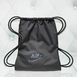 Nike Heritage 2.0 Drawstring Backpack Gym Sack Thunder Grey BA5901-082