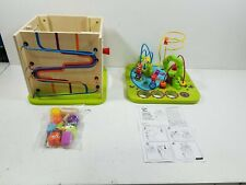 Country Critters Wooden Activity Play Cube by Hape   Wooden Learning Puzzle