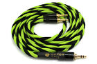 Focal Elear Clear Cable 3.5mm Jack (1.25m, Black and Green) Ready to Ship