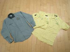 LOT! FOUR 70s vtg JOHN DEERE work shirt GREEN YELLOW dealer emb logo ALLEN small
