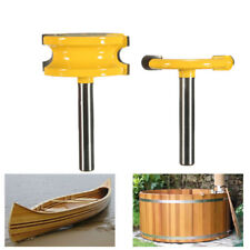 2Pcs 1/4'' Shank Canoe Flute and Bead Router Bit Cutter Woodworking Tool JH