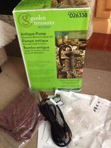 Garden Treasures Antique Pump Barrel Fountain Kit 026338 New In Box