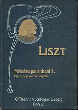 Liszt - Mélodies pour chant 1 - C.F.Kahnt Nachfolger, Leipzig Éditeur
