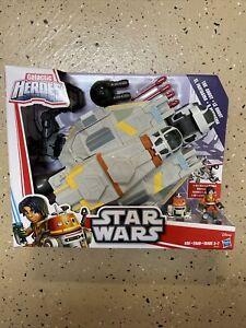 HASBRO Star Wars Rebels Galactic Heroes the GHOST VEHICLE+FIGURE PLAYSET Ezra