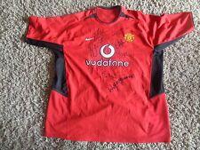 NEW Manchester United SIGNED shirt - BECKHAM FERGUSON KEANE FORLAN BUTT