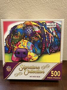MasterPieces Dean Russo My Dog Blue 500 Piece Puzzle Signature Collection New