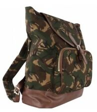 BNWT Fred Perry Hunting Green Camouflage Classic Canvas Backpack Rucksack