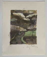 Baruj Salinas, Signed Abstract Landscape Lithograph, Cuban Miami Art