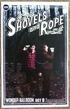 SHOVELS AND ROPE Gig POSTER Oct. 2013 Portland Oregon Concert