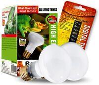 CULLEN 2-Pack Reptile Heat Lamp Bulb/Light, UVA Basking Spot Heat Lamp 75W