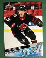 JUMBO 2020-21 UPPER DECK SERIES 2 482 TIM STUTZLE SENATORS YOUNG GUNS OVERSIZED