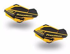 Powermadd Sentinel Replacement ATV Handguards Guards Ski Doo Yellow Black 34401