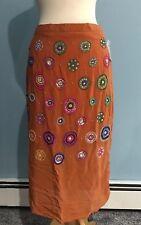 NEW Anthropologie Beaded Appliqué Arancia Skirt Size 6