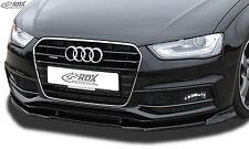 Audi A4 B8 S-line/S4 - Front splitter Vario Diffuser PUR Plastic 2011+ facelift