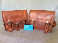 "Handmade Goat Leather 9"" Shoulder Bag SXS/P Satchel iPad Mini Billy Goat Designs"