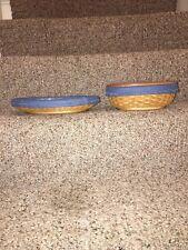 Longaberger Aco lot Of 2 Basket Sets Rare