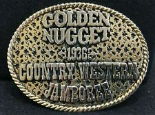 Gold & Black - Golden Nugget Casino  - Las Vegas - Belt Buckle - Free Shipping