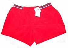Moschino Swim Red AUTHENTIC Cotton Shorts Black Belt Logo Size US 38 EU 54 NEW