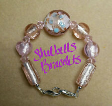 Handmade Medical Alert ID Replacement Bracelet/Pink