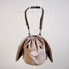 NEW Floppy Eared Bunny Drawstring Bucket Sling Purse Handmade