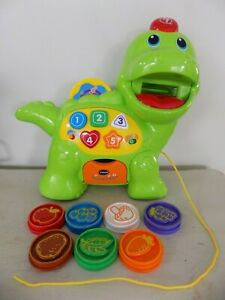 VTech Educational Kids Toy Chomp and Count Dino Green Dinosaur