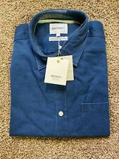 Norse Projects Anton Denim Chambray Button Down Long Sleeve Blue Shirt Mens Sz L