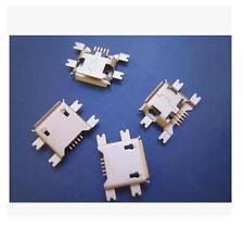 10Pcs Micro USB Type B Female 5Pin Socket 4Legs SMT SMD Soldering Connector