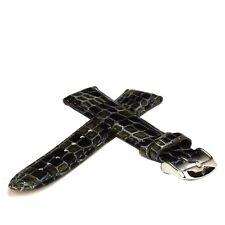 Lederuhrband von Vandenbroeck - Alligator schwarzbraun - 20 mm Uhrenarmband