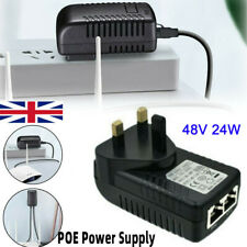 More details for 48v poe power supply poe injector adapter wall uk plug power over ethernet uk