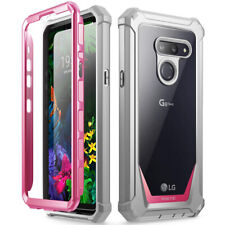 LG G8 ThinQ Rugged Clear Case,Poetic Hybrid Shockproof Bumper Cover Pink