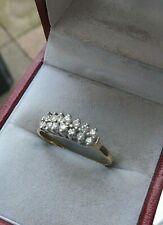 Attractive Modern 18ct  Yellow Gold & 14 Diamond Ring h/m 1994 B'ham  - size N
