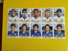 Fogli Calciatori Panini Italia 90 sheet 10 sticker England Italia Baggio Maldini