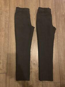 Tu Girls Charcoal Grey Formal School Trousers - 10 Years
