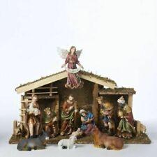 Kurt Adler 12-piece Wooden Stable Nativity Set N1005