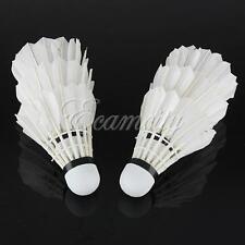 6pcs Goose Feather Shuttlecock Bird White Badminton Ball Game Sport Training
