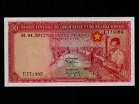 Belgian Congo:P-32,50 Francs, 1.4.1959 * Textile Factory * EF-AU *