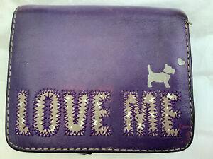 "Purple Leather Radley Purse/Wallet, ""Love Me, Love My Dog."""